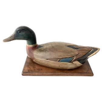 Mallard Duck Decoy Carving by Tom Taber and Hersey Kyle Jr