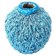 Gunnar Nylund Chamotte Hedgehog Vase - Rare Blue - Rörstrand Sweden