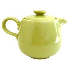 Homer Laughlin Rhythm Teapot - 1950s Chartreuse Fiestaware