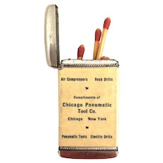 Chicago Pneumatic Tool Co. Promo Match Safe - Whitehead Hoag 1905