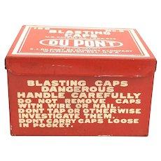 DuPont Blasting Caps Tin #6 w/ Inspectors Stamp
