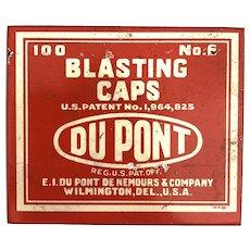 DuPont Blasting Caps Tin #6 w/ Felt Insert