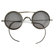 Wellsworth Wire Mesh Safety Glasses - Steampunk Welding Goggles