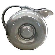 Gray Hall Donut Pitcher #1335 Circa 1930's - Hall Disc Pitcher