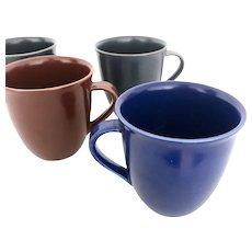 Set of 4 Hoganas Keramik Swedish Stoneware Mugs - Iittala Rorstrand