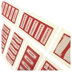 40 Vintage Paper Canning Labels - 8 Sheets of Mason Jar Labels