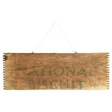 Vintage National Biscuit Crate Wood Wall Hanging - Nabisco Advertising