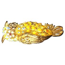 Gold Owl Pin