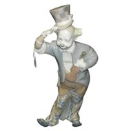 lladro Clown with Violin