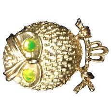 Puffed Owl Pin