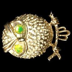 Puffed Owl Pin