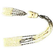 Beaded Skull Necklace