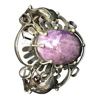 Sterling Silver Bracelet with Sugilite Stone