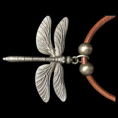 Pewter Dragon Fly Necklace