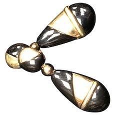 14K Gold and Onyx Earrings