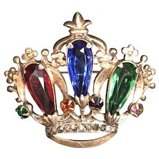 Jelly Belly Crown Brooch