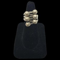 Art Deco Sterling Silver Statement Ring