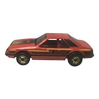 Vintage 1979 Hot Wheels Diecast Cobra Mustang Red with Gold Hubcaps