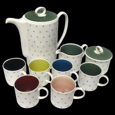 Rare Compete Susie Cooper Art Deco Harlequin Coffee/Tea Set With Stars