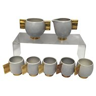 Carlton Ware Fin Handled Moderne Matte Coffee/Tea/Cappuccino Set