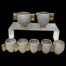 Carlton Ware Fin Handled Moderne Matte Coffee/Tea/Cappuccino Set