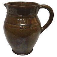 Thomas Stahl Signed 1942 Decorative Redware Pottery Jug