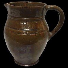 Thomas Stahl Signed 1942 Decorative Redware Pottery Jug