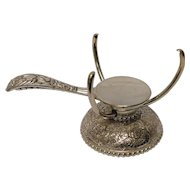 Victorian Silver Gouda Cheese Holder