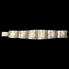 Sterling Silver Central American Medallion Bracelet