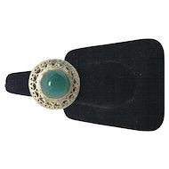 Green Agate Sterling Sliver Ring