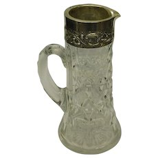 Glass & Silver Ewer Pitcher