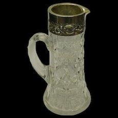 Glass & Silver Ewer Pitcher