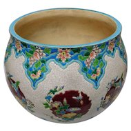 French Faience Jardiniere Vase by Gien