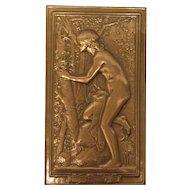 """Bronze Plaque """"Le Nid"""" by artist Daniel Dupuis"""