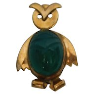 Gold Filled Owl Pin