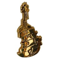 French Designer Guitar Pin by Arthus-Bertrand