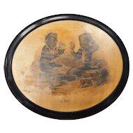 Black Memorabilia Wooden Plaque