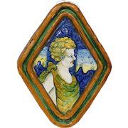 French Faience Wall Plaque