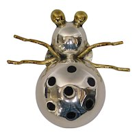 Designer Sterling Silver Beetle Pin