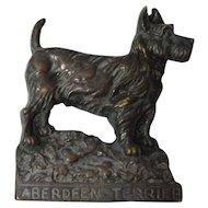Bronze Aberdeen Terrier Plaque