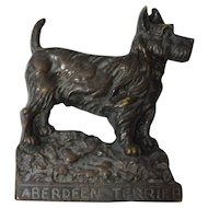 Bronze Aberdeen Terrier Plaque