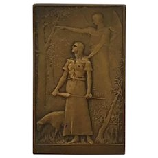 Bronze Plaque: Joan of Arc by artist Daniel Dupuis