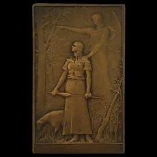 Bronze Plaque: Joan of Arc by artist Daniel Dupuis