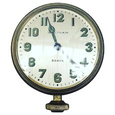 Waltham 8 Days Brass Car Clock 1926