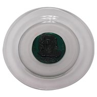 French Glass Plate by Daum; J.S. Bach