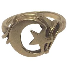 14K Yellow Gold Ring with Symbol of Islam