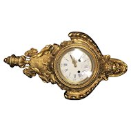 French Tiffany & Co. Gilt Bronze Wall Clock