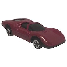 Vintage Diecast Alfa Romeo Lintoy Coupe 33 in very rare Burgundy