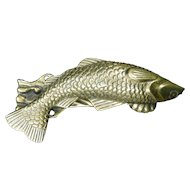 Brass Fish-Shaped Door Knocker