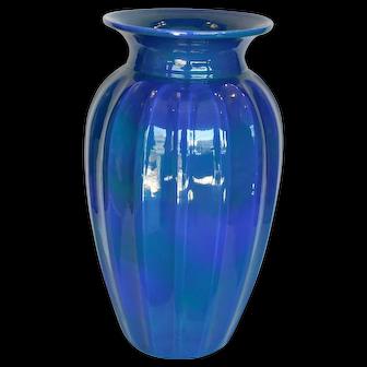 Signed Cowan Pottery Large Blue Vase